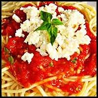 Domatesli Peynirli Spagetti