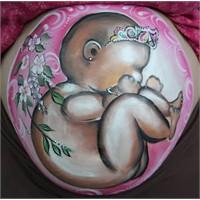 Hamile Göbeği Boyama Sanatı !