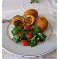 Kıymalı-patatesli İçli Köfte