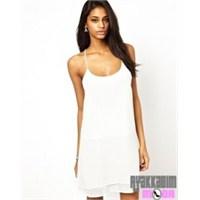 En Şık Beyaz Elbise Modelleri 2014