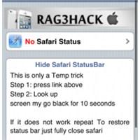 Jailbreak'siz Safari'de Durum Çubuğu Gizleme!