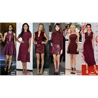 Trend: Bordo Elbiseler