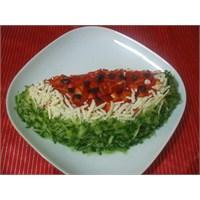Karpuz Dilimi Şeklinde Patates Salatası