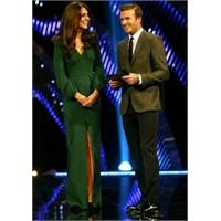 Kate Middleton: Yeşil Mcqueen Elbise