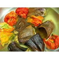 Kuru Patlıcan Ve Biber Dolması -2