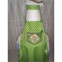Yeşil Puantiyeli Mutfak Önlüğü