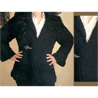 2011 Modası-siyah Uzun Hırka