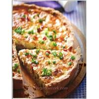 Peynirli Kiş Tarifi Taze Soğanlı (8 Kişilik)