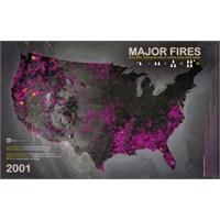 Son 12 Yılın Abd Yangınları Haritası