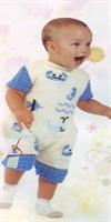 Anlatımlı Erkek Bebek Tulumu