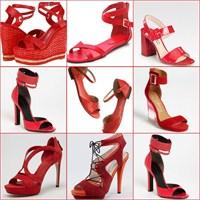 2013 Kırmızı Sandalet Modelleri