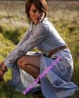 Kemerli Gömlek Şeklinde Elbise Modeli