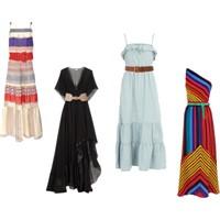 Uzun Elbise Ve Kemer Kombini