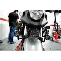 Honda Nc700x'e Ekstra Sis Farı Uygulaması