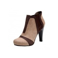 Kahverengi Topuklu Bot Ayakkabılar
