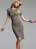 Modern Bir Elbise Örneği Triko Elbise