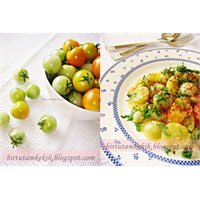 Zeytinyağlı Yeşil Domates Yemeği