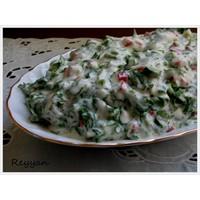 Süzmeli Roka Salatası