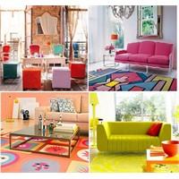 Çılgın, Renkli, Parlak Ve Neşeli Oturma Odaları