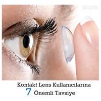 Kontakt Lens Kullanıcılarına Öneriler