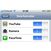 İphone Ve İpad'de Sınırlamalar – Restrictions