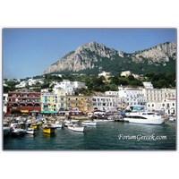 Napoli Körfezinin Güneyinde Bir İtalyan Adası