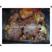 Patlıcanlı Patatesli Fırın Köfte
