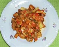 Patatesli Mantar Sote Ve Mevsim Salatası