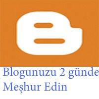 Blogunuzu 2 Günde Meşhur Edin