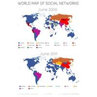 Sosyal Ağların Dünya Haritası