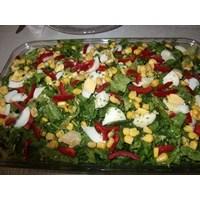 Mısırlı Biberli Yumurta Salatası