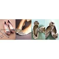 Düz Tabanlı, Topuksuz Gelin Ayakkabısı Modelleri