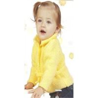 Sarı Renk Bebek Hırka Örülüşü