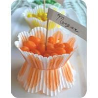 Kağıt Muffin Kalıbından Şeker Kasesi