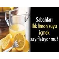 Limonlu Ilık Su İçerek Zayıflama Formülü