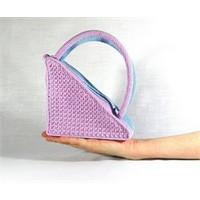 Yeni Model Üçgen Örülmüş Çanta