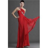 Özel Geceler İçin Kırmızı Renkli Abiye Elbiseler