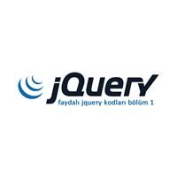 Faydalı Jquery Kodları Bölüm 1