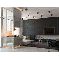 Siyah Beyaz Modern Ev Dekorasyonu 2014