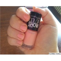 Denedim: Maybelline Color Show Oje No: 93 Peach Sm