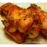 Kişniş, Zencefil Ve Bol Baharatlı Tavuk İncikler