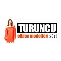 Turuncu Elbise Modelleri 2013
