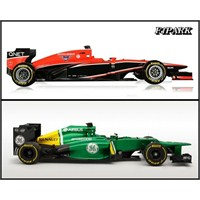 Jerez'de 2 Lansman: Marussia Mr02 & Caterham