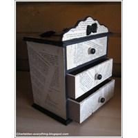 Mini Çekmece Kutusunu Kendiniz Süsleyebilirsiniz