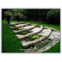 Standart Bahçede Taş Peyzaj Düzenleme Örnekleri