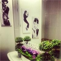 Banyoda Bahar Dekorasyonu