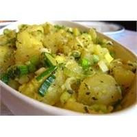 Sevilen Hardal Soslu Patates Salatası