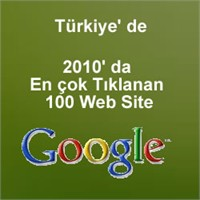 2010 Da En Çok Tıklanan 100 Web Site