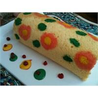 Çiçekli Rulo Pasta