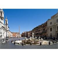 Roma'nın En Ünlü Ve Güzel Meydanlarından Navona
